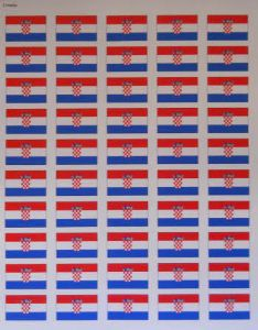 Croatia Flag Stickers - 50 per sheet